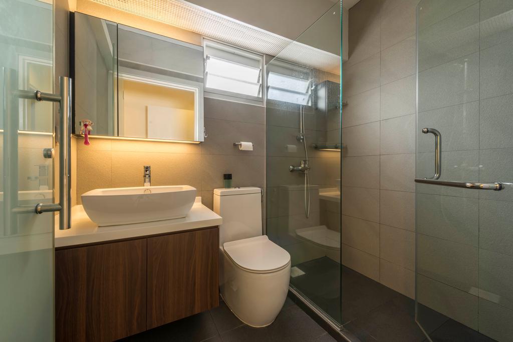 Contemporary, HDB, Bathroom, Tampines Central 7, Interior Designer, Control Space Design Studio