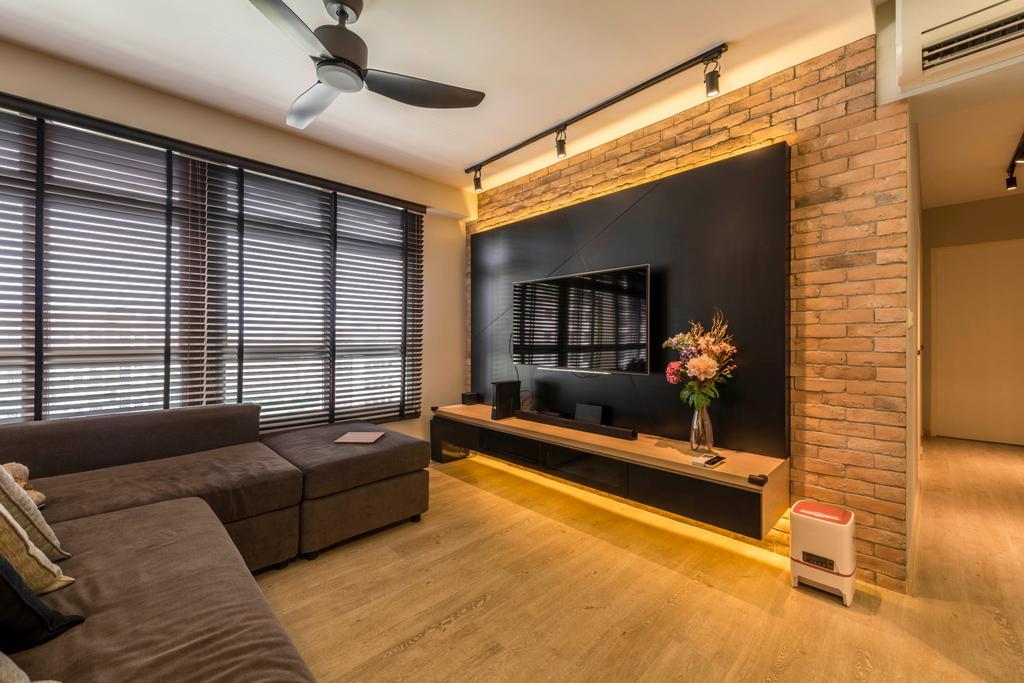 Contemporary, HDB, Living Room, Tampines Central 7, Interior Designer, Control Space Design Studio