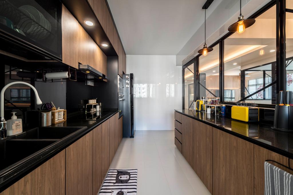 Contemporary, HDB, Kitchen, Rivervale Crescent, Interior Designer, Control Space Design Studio