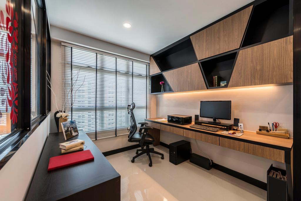 Contemporary, HDB, Study, Rivervale Crescent, Interior Designer, Control Space Design Studio