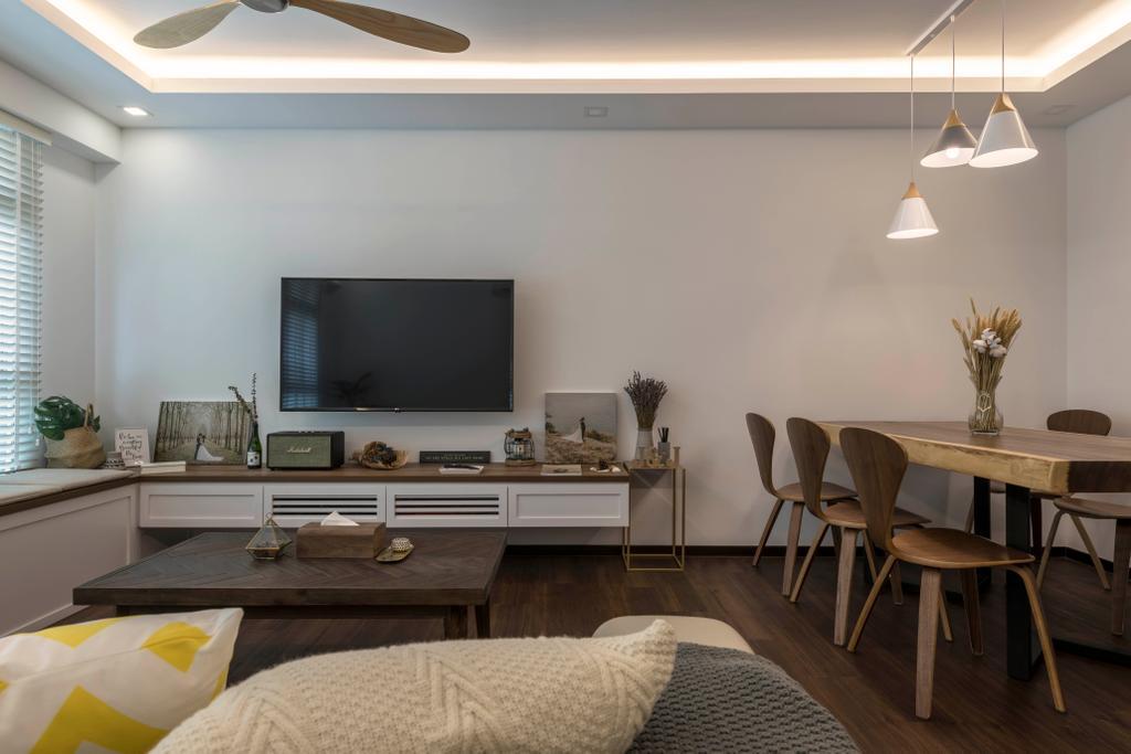 Contemporary, HDB, Living Room, Canberra Street, Interior Designer, Control Space Design Studio