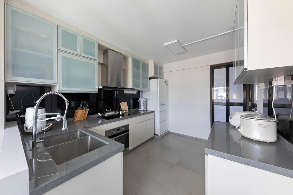 Contemporary, HDB, Kitchen, Serangoon Avenue 4, Interior Designer, Space Concepts Design