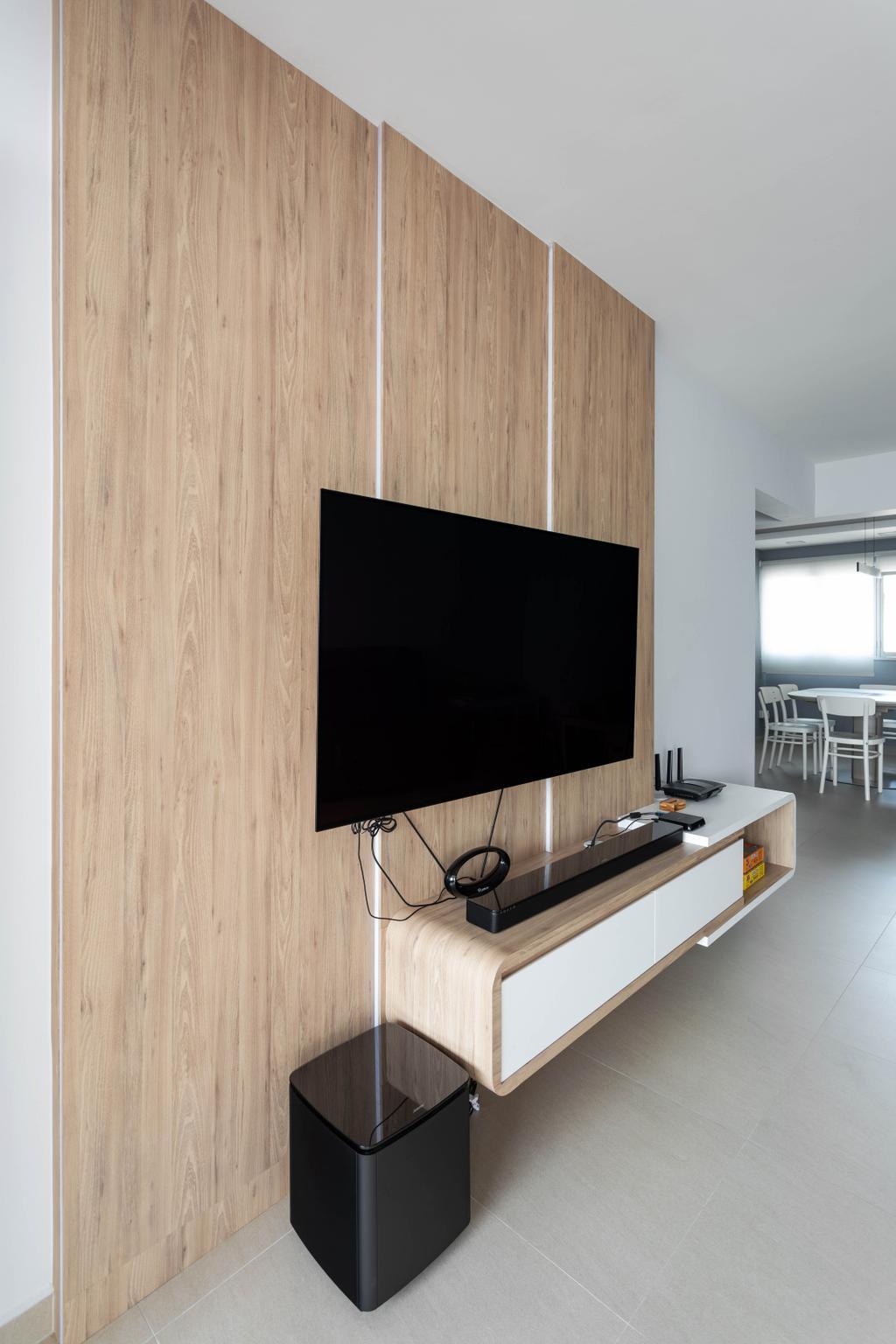 Contemporary, HDB, Living Room, Serangoon Avenue 4, Interior Designer, Space Concepts Design