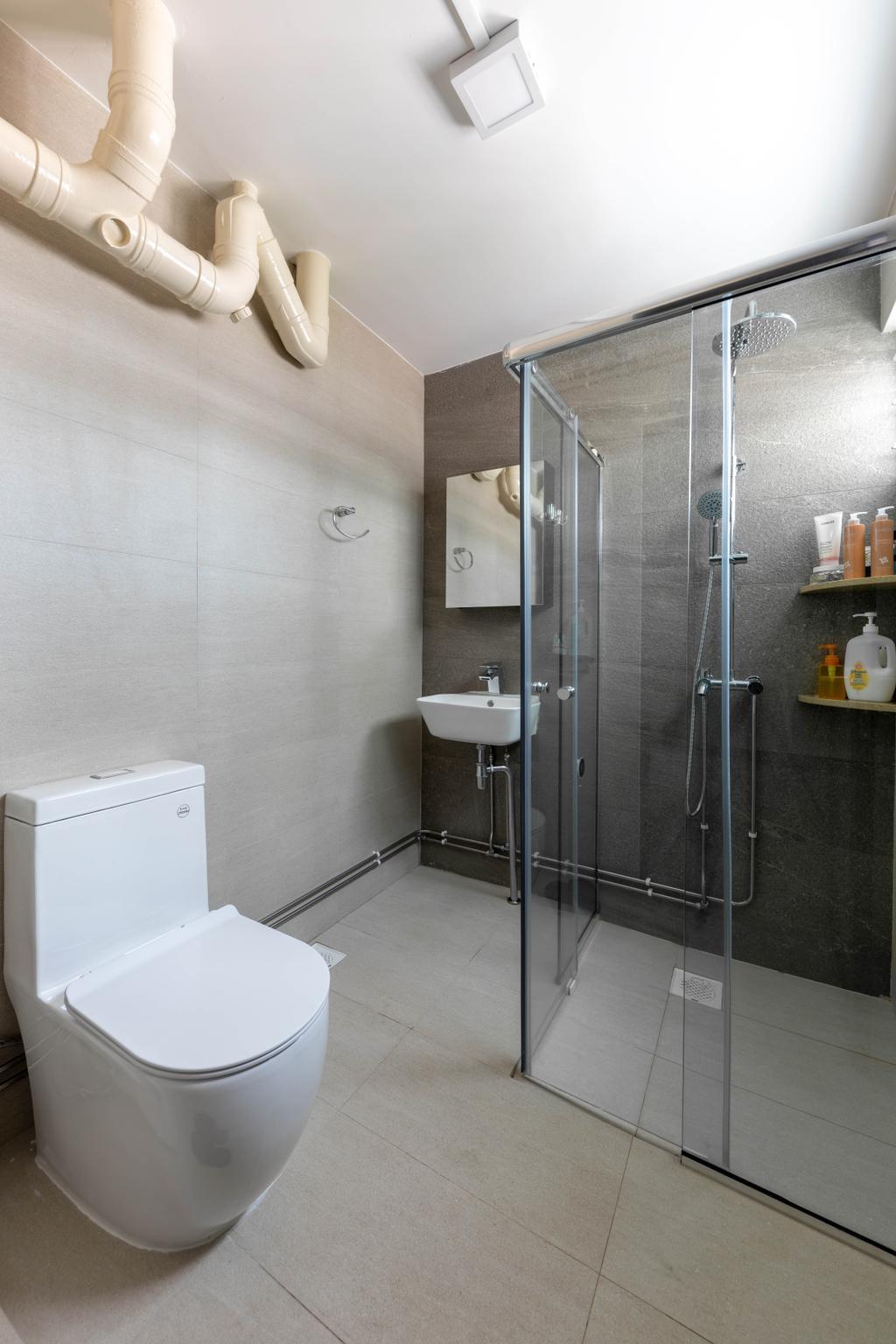 Contemporary, HDB, Bathroom, Serangoon Avenue 4, Interior Designer, Space Concepts Design