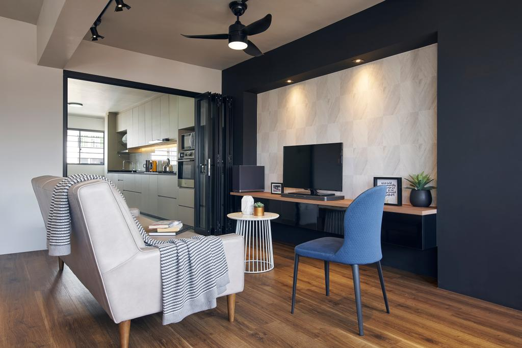 Contemporary, HDB, Living Room, Bedok South, Interior Designer, Jubilee Interior