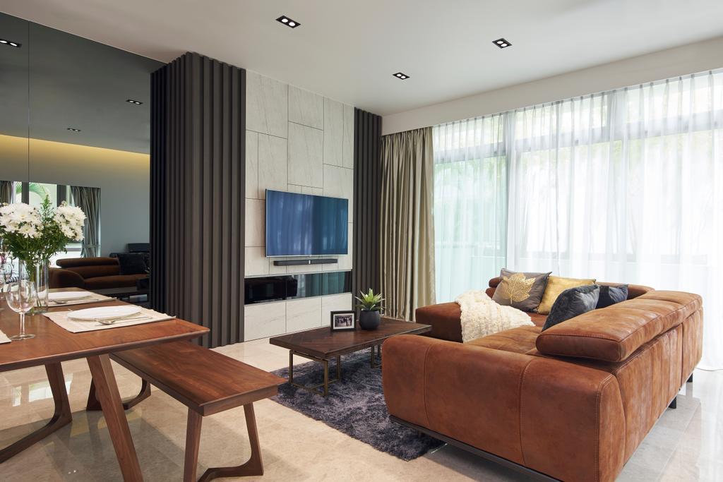 Contemporary, Landed, Living Room, Lorong Selangat, Interior Designer, Jubilee Interior