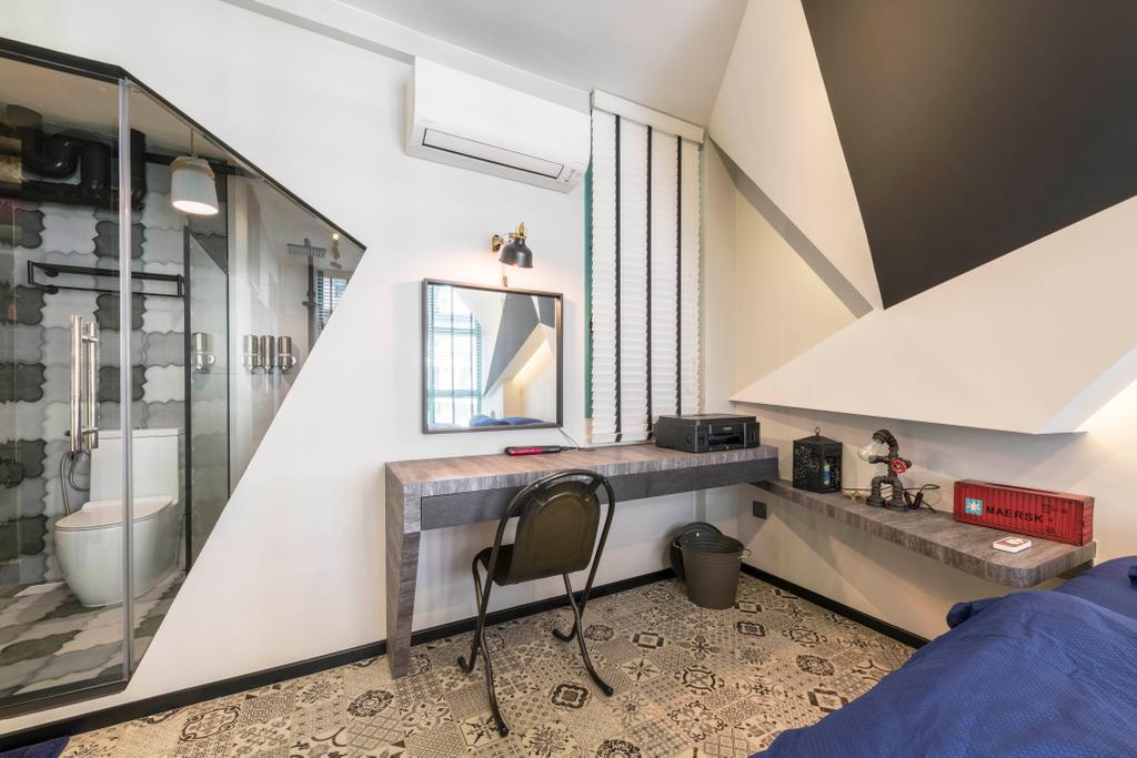 Eclectic, HDB, Bedroom, Woodlands Drive 75, Interior Designer, Chapter One Interior Design