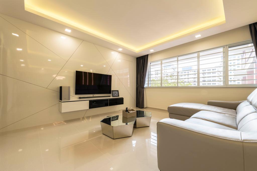Contemporary, HDB, Living Room, Pasir Ris Street 71, Interior Designer, Zenith Arc