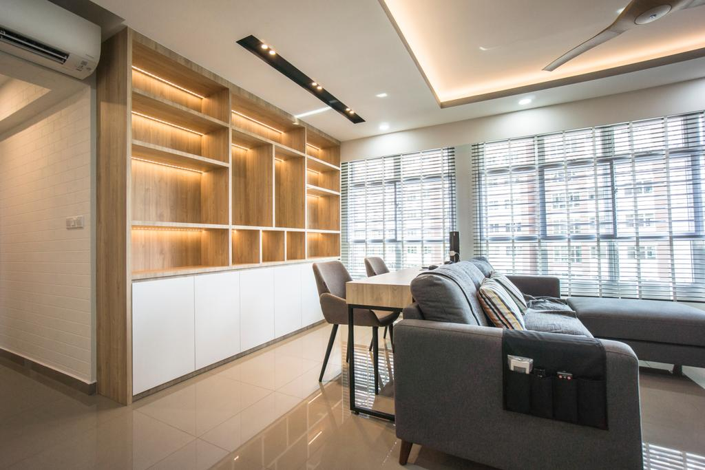 Contemporary, HDB, Living Room, West Terra, Interior Designer, Flo Design