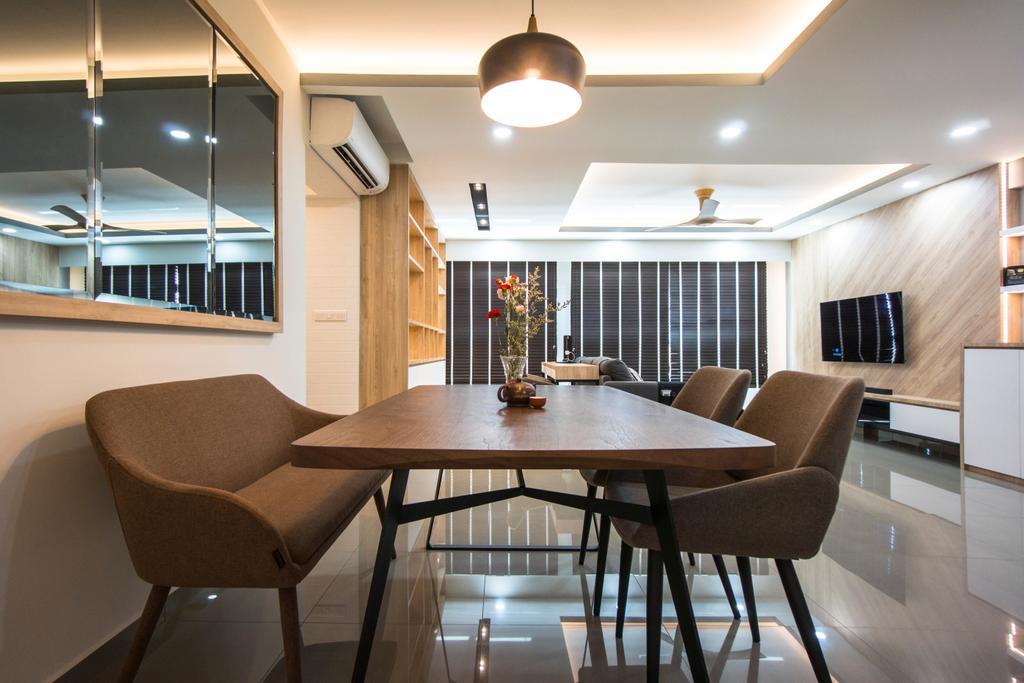 Contemporary, HDB, Dining Room, West Terra, Interior Designer, Flo Design