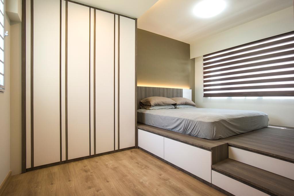 Contemporary, HDB, Bedroom, West Terra, Interior Designer, Flo Design