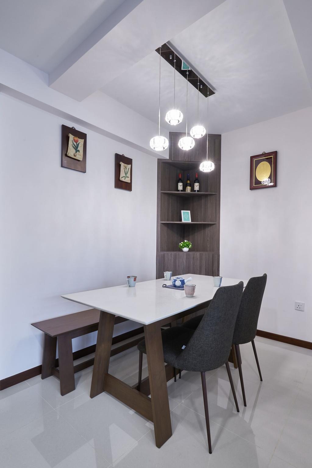 Contemporary, HDB, Dining Room, Edgedale Plains, Interior Designer, Charlotte's Carpentry