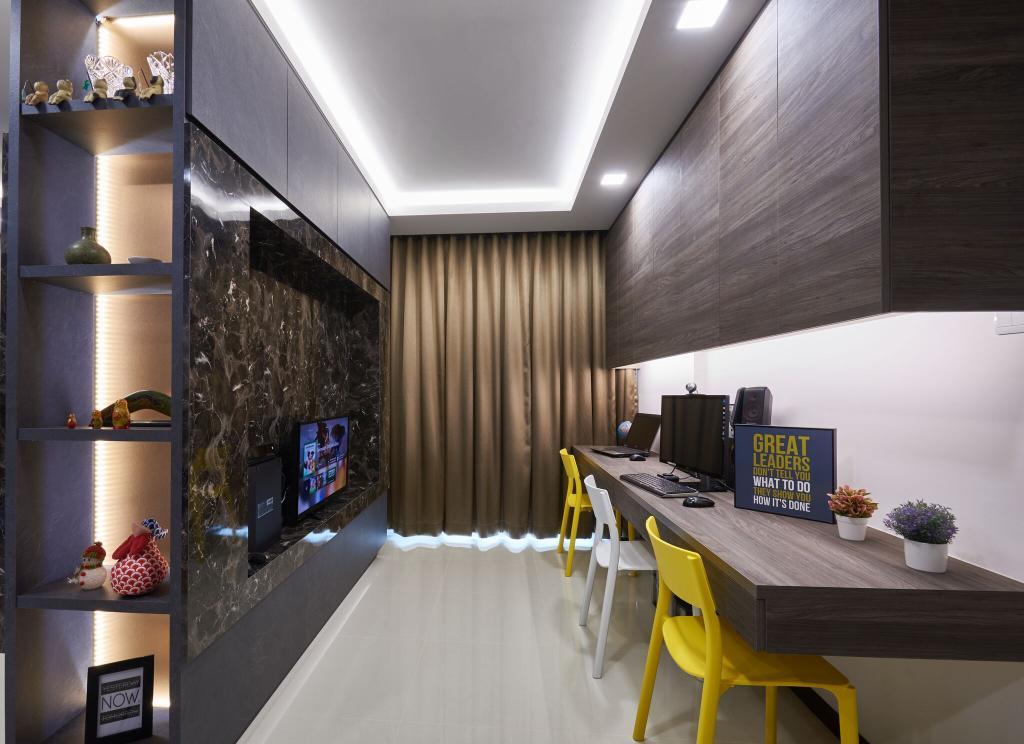 Contemporary, HDB, Study, Edgedale Plains, Interior Designer, Charlotte's Carpentry