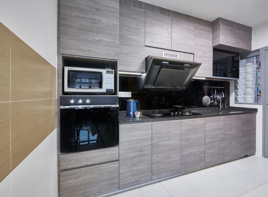 Contemporary, HDB, Kitchen, Edgedale Plains, Interior Designer, Charlotte's Carpentry