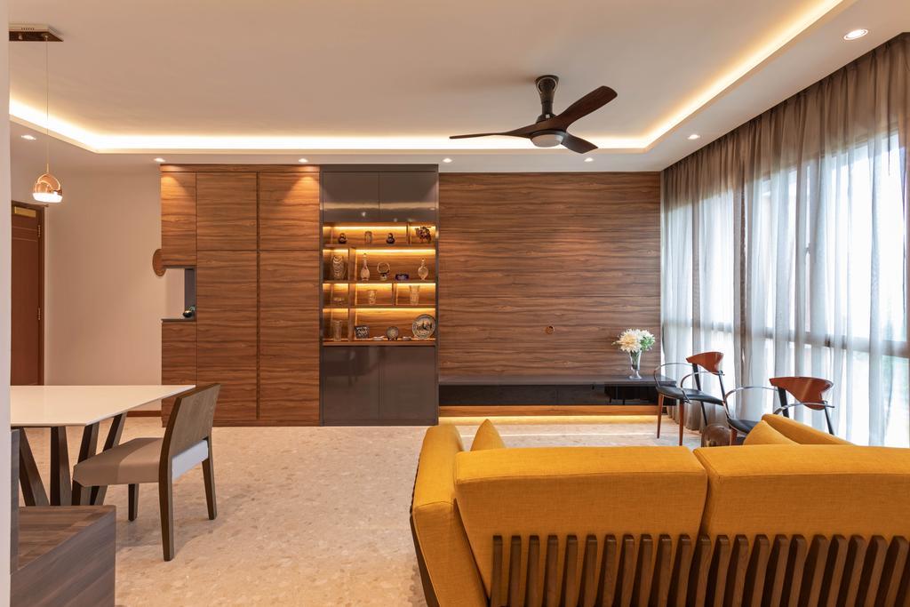 Contemporary, Condo, Living Room, The Rivervale, Interior Designer, The Orange Cube