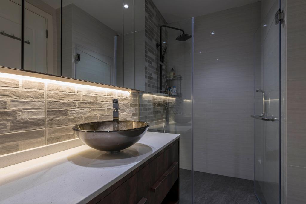 Modern, Condo, Bathroom, Water Place, Interior Designer, Project Guru