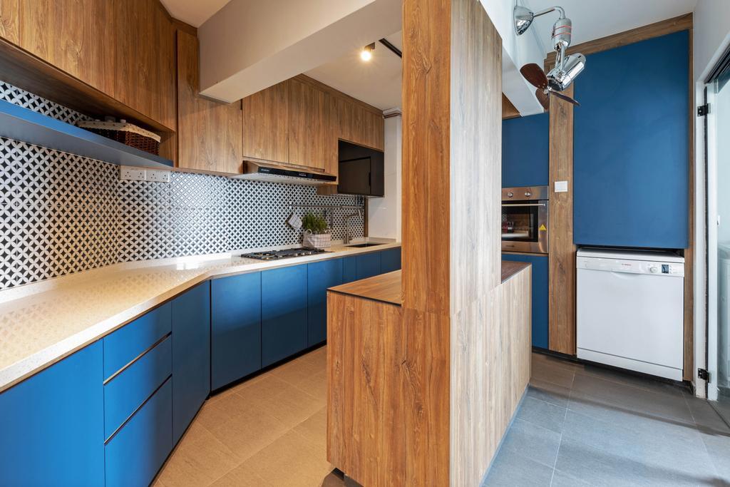 Contemporary, HDB, Compassvale Walk, Interior Designer, New Age Interior
