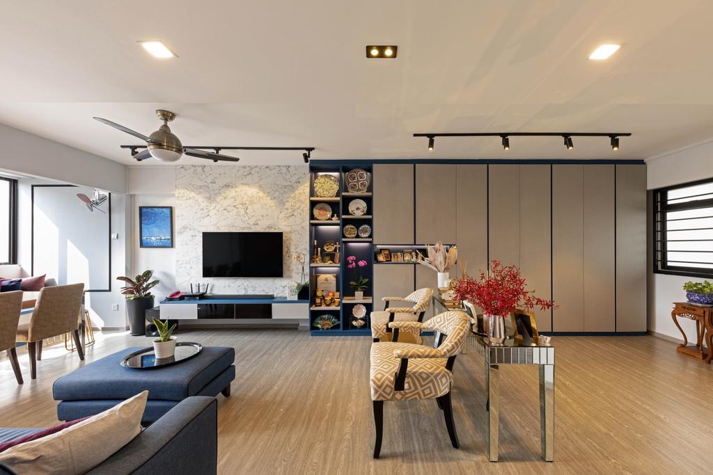 Contemporary, HDB, Living Room, Compassvale Walk, Interior Designer, New Age Interior