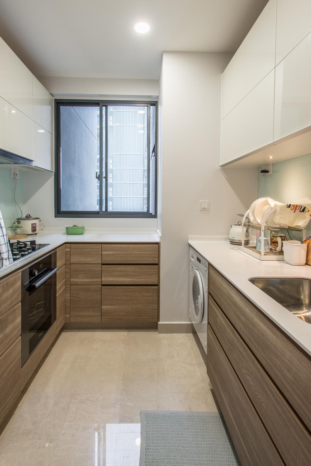 Contemporary, Condo, Kitchen, Alex Residences, Interior Designer, Luova Project Services