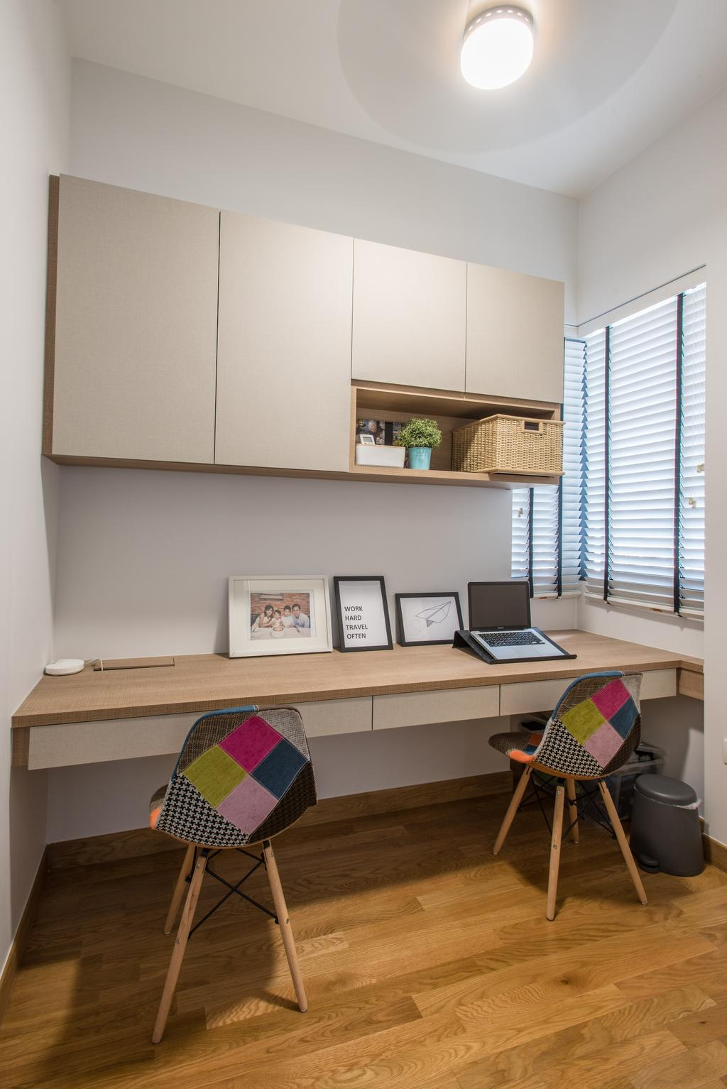 Contemporary, Condo, Study, Alex Residences, Interior Designer, Luova Project Services
