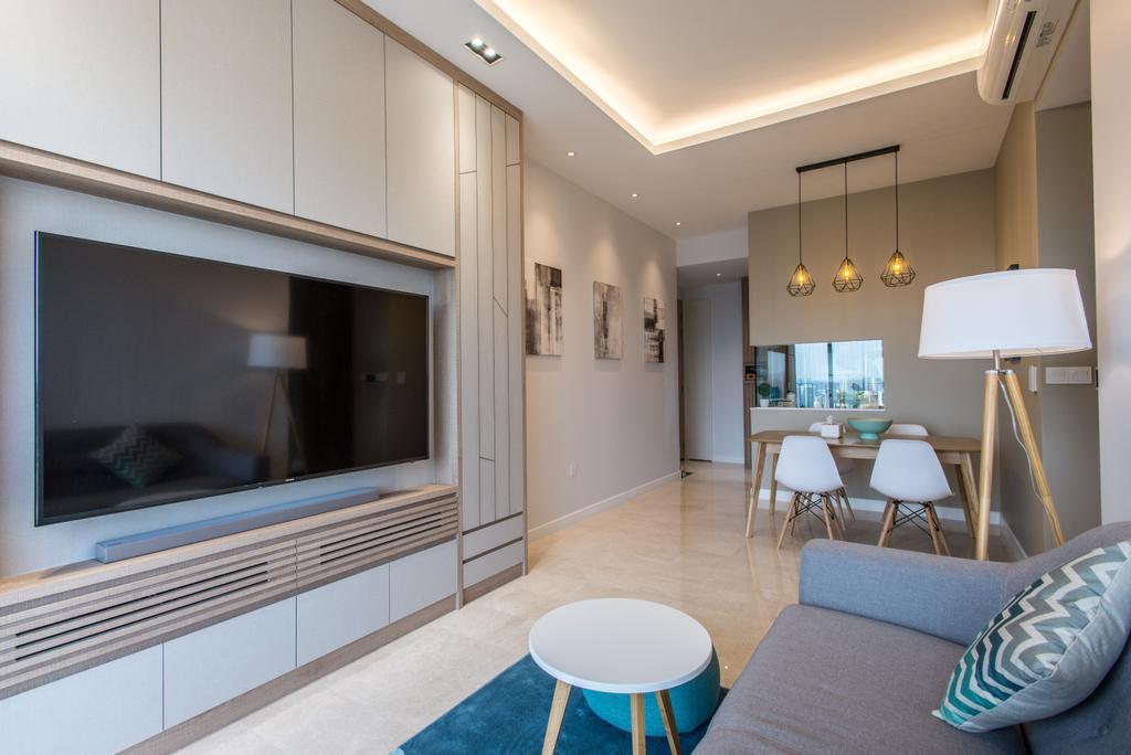 Contemporary, Condo, Living Room, Alex Residences, Interior Designer, Luova Project Services