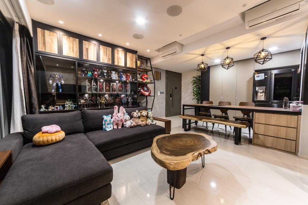 Contemporary, Condo, Living Room, Bellewaters, Interior Designer, Luova Project Services