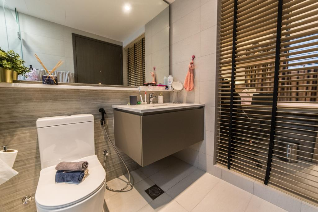 Contemporary, Condo, Bathroom, Bellewaters, Interior Designer, Luova Project Services