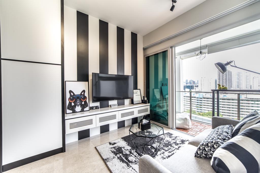 Contemporary, Condo, Living Room, Eight Riversuites, Interior Designer, Luova Project Services