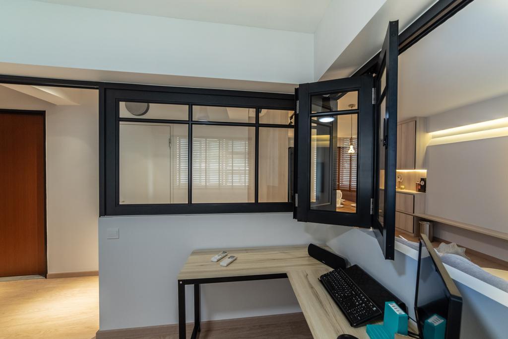Contemporary, HDB, Study, Telok Blangah Street 31, Interior Designer, Luova Project Services