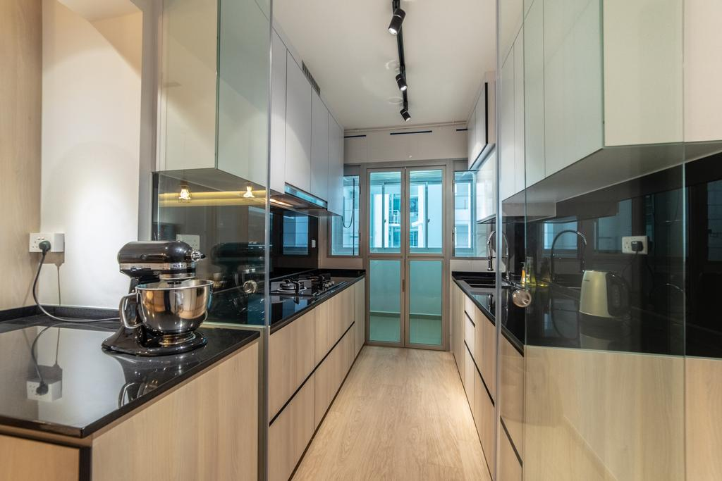 Contemporary, HDB, Kitchen, Telok Blangah Street 31, Interior Designer, Luova Project Services