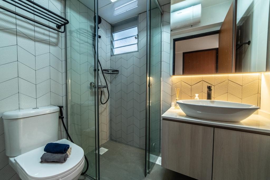 Contemporary, HDB, Bathroom, Telok Blangah Street 31, Interior Designer, Luova Project Services