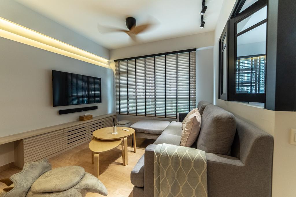 Contemporary, HDB, Living Room, Telok Blangah Street 31, Interior Designer, Luova Project Services
