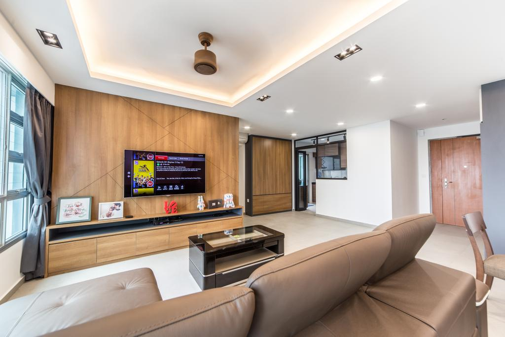 Contemporary, HDB, Living Room, Ang Mo Kio Street 44, Interior Designer, Luova Project Services