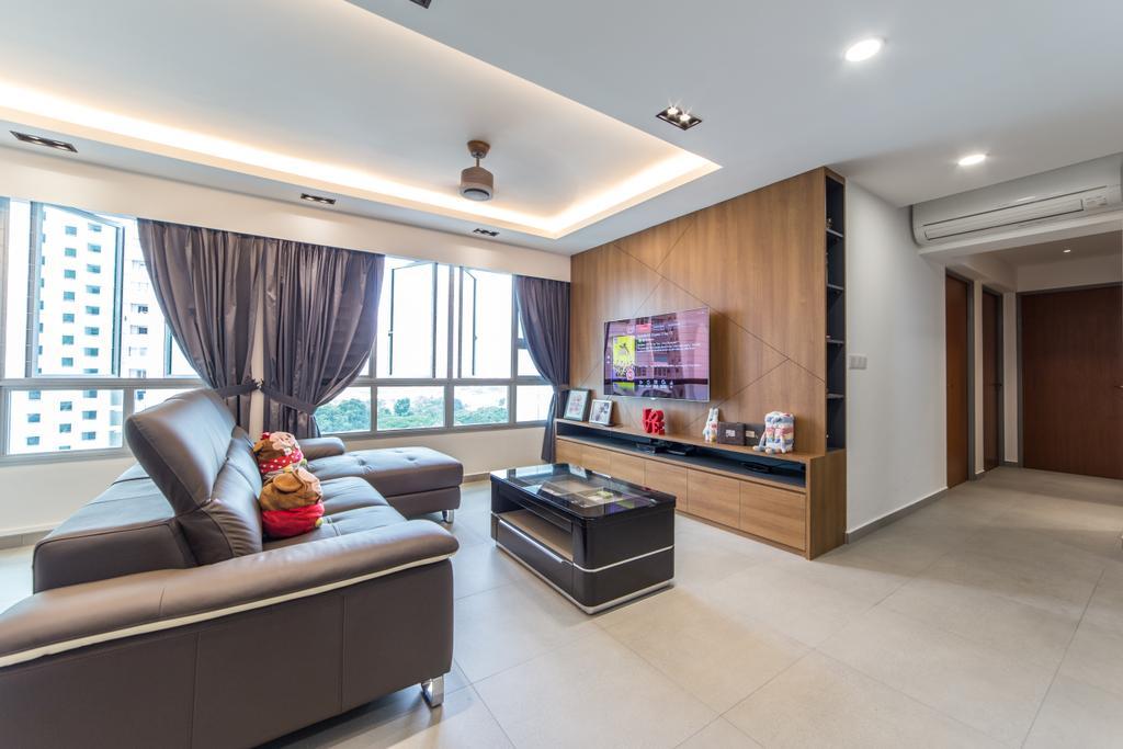 Contemporary, HDB, Living Room, Ang Mo Kio Street 44, Interior Designer, Luova Project Services