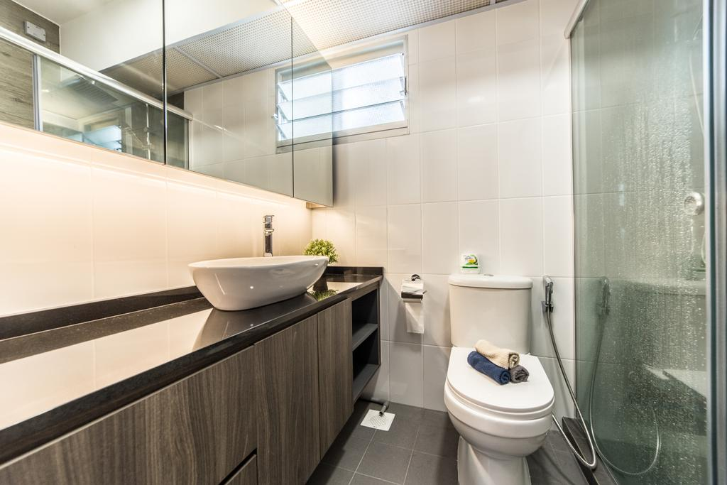 Contemporary, HDB, Bathroom, Ang Mo Kio Street 44, Interior Designer, Luova Project Services