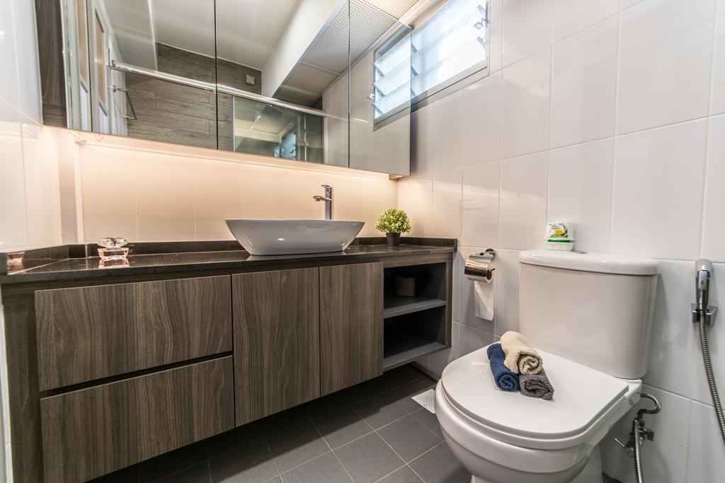 Contemporary, HDB, Bathroom, Ang Mo Kio Street 44, Interior Designer, Luova Project Services