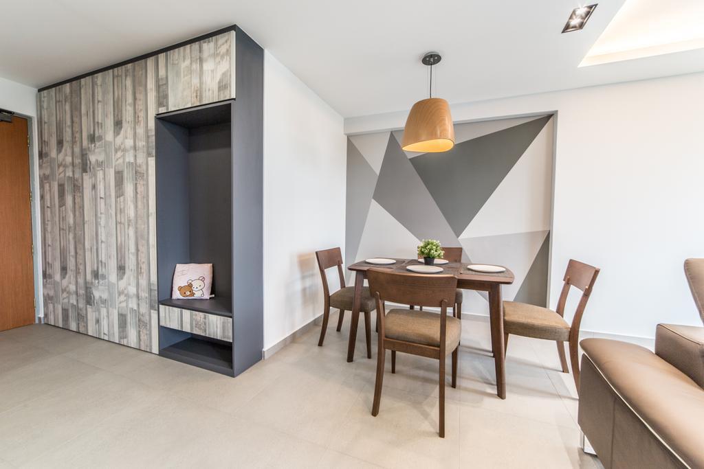 Contemporary, HDB, Dining Room, Ang Mo Kio Street 44, Interior Designer, Luova Project Services