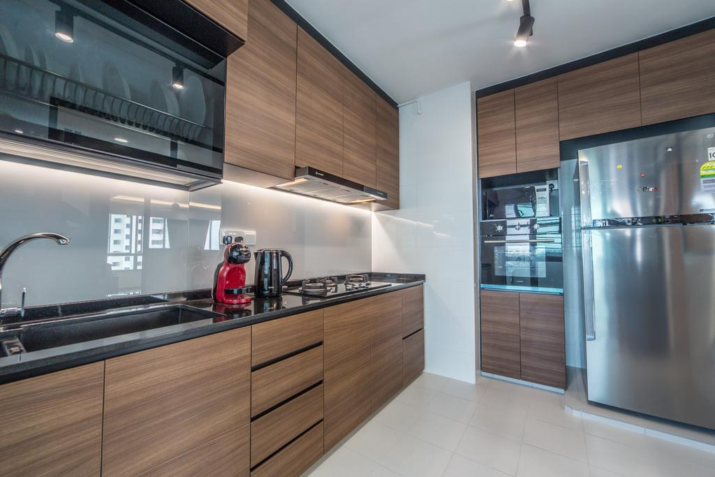 Contemporary, HDB, Kitchen, Ang Mo Kio Street 44, Interior Designer, Luova Project Services