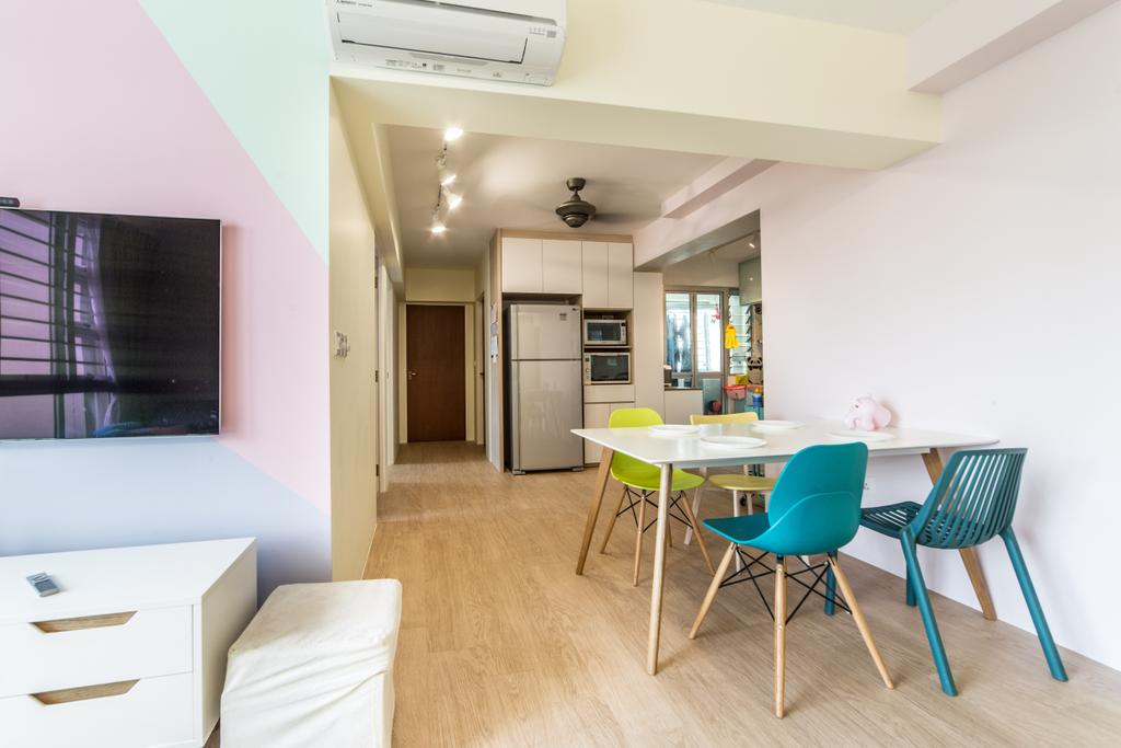 Contemporary, HDB, Dining Room, Lorong 1 Toa Payoh, Interior Designer, Luova Project Services
