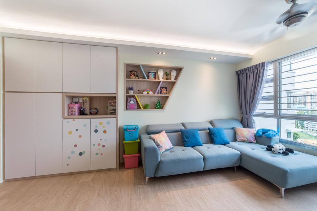 Contemporary, HDB, Living Room, Lorong 1 Toa Payoh, Interior Designer, Luova Project Services