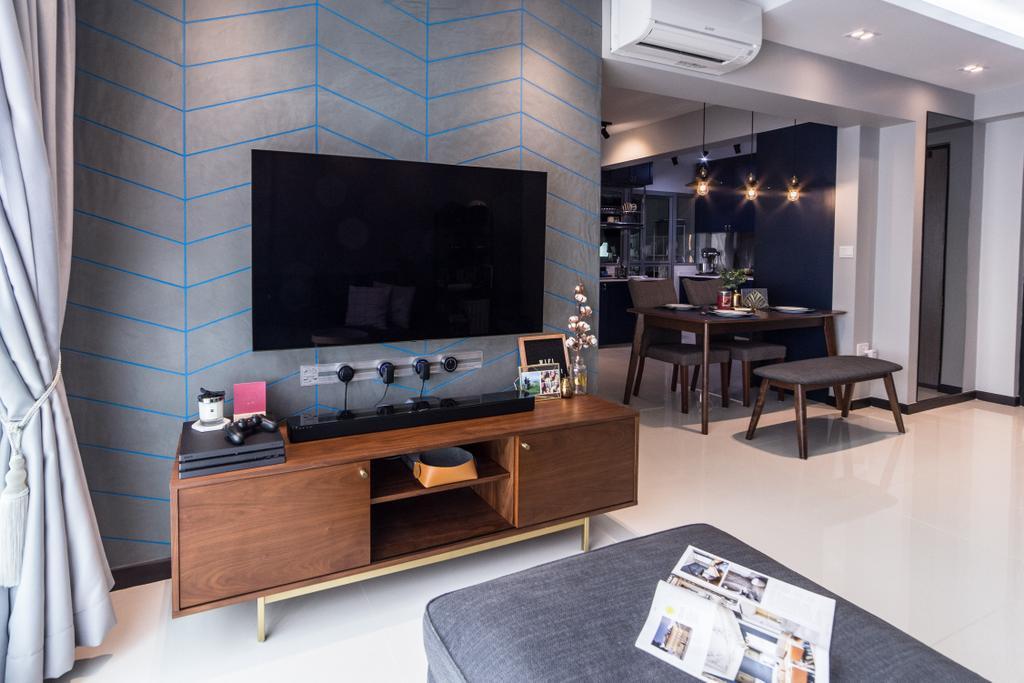 Contemporary, HDB, Living Room, Edgedale Plains, Interior Designer, Luova Project Services