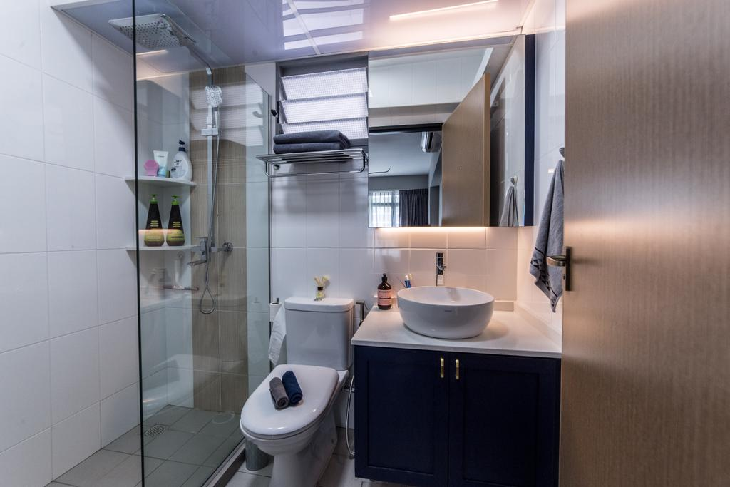 Contemporary, HDB, Bathroom, Edgedale Plains, Interior Designer, Luova Project Services