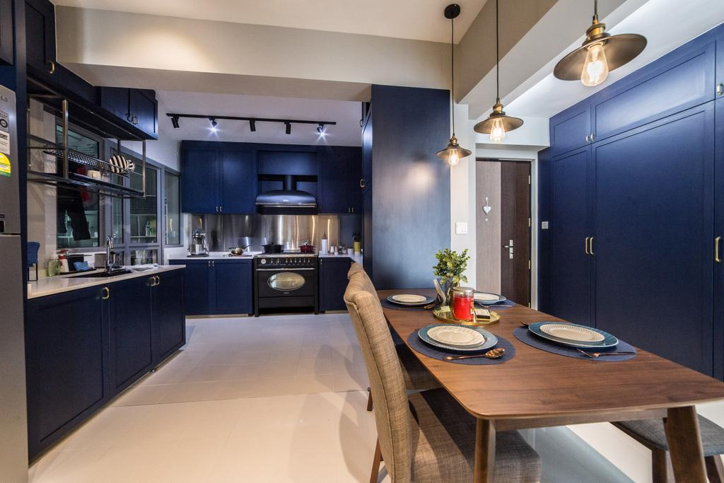 Contemporary, HDB, Dining Room, Edgedale Plains, Interior Designer, Luova Project Services