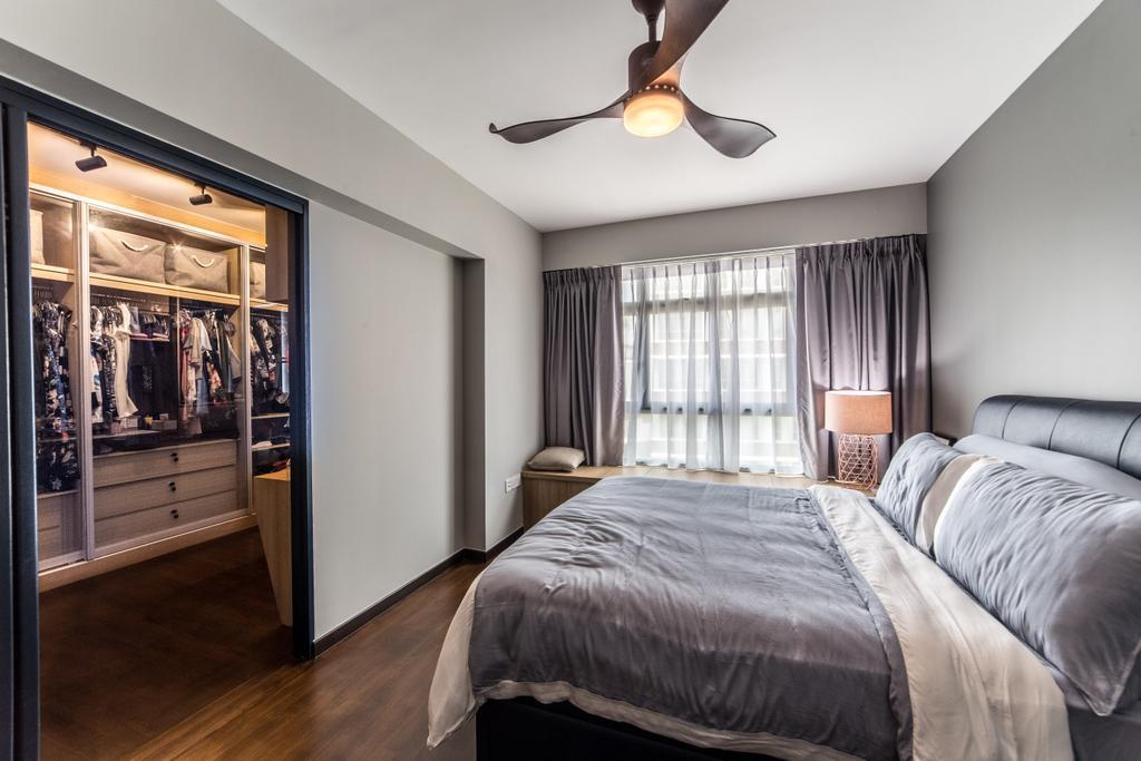 Contemporary, HDB, Bedroom, Edgedale Plains, Interior Designer, Luova Project Services