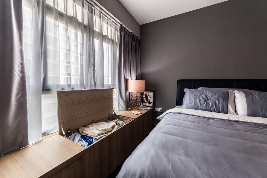 Contemporary, HDB, Bedroom, Edgedale Plains, Interior Designer, Luova Project Services