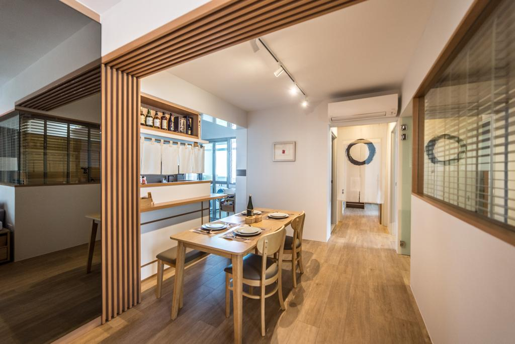 Minimalistic, HDB, Dining Room, Yung Kuang Road, Interior Designer, Luova Project Services