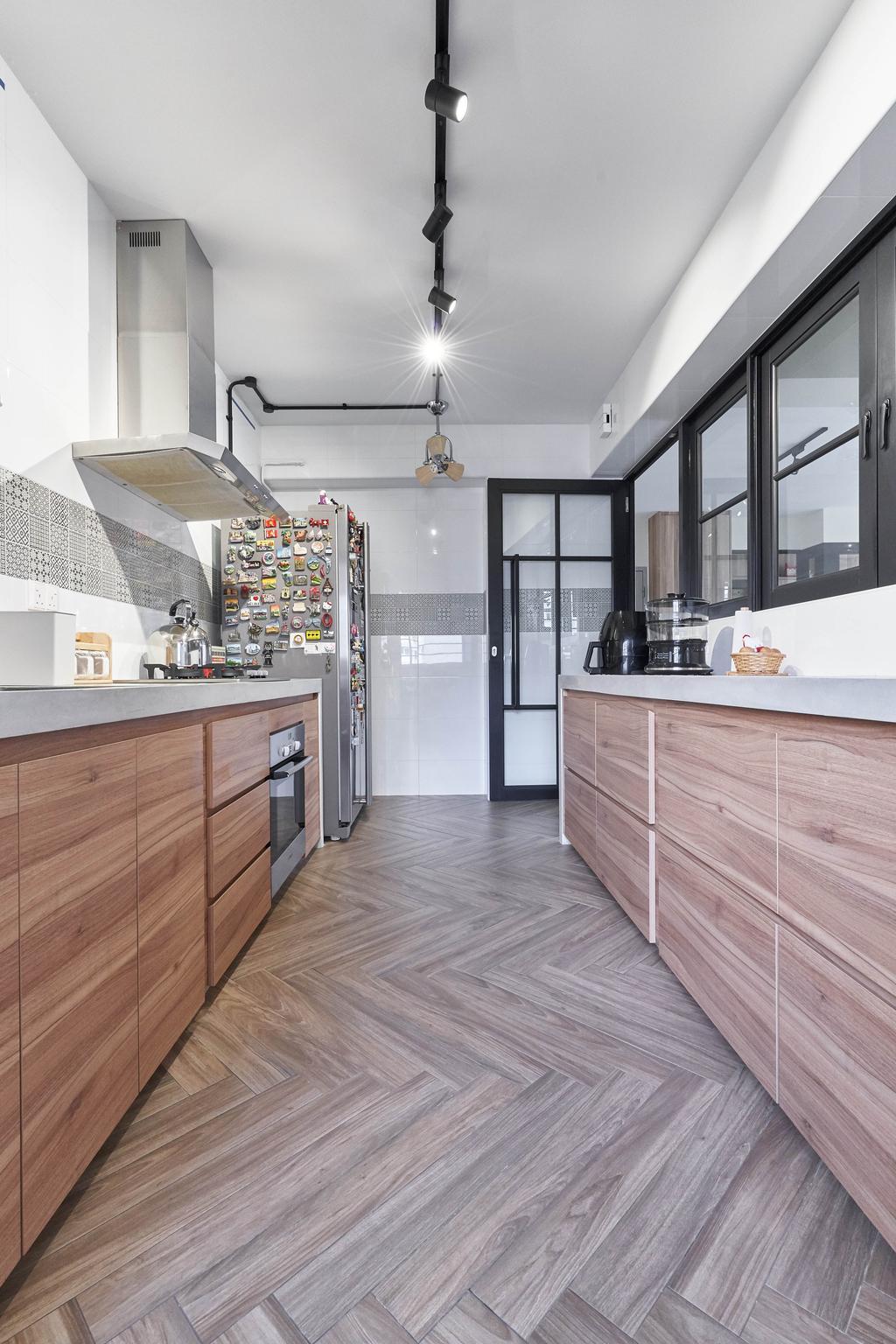 Contemporary, HDB, Kitchen, Canberra Crescent, Interior Designer, Space Atelier
