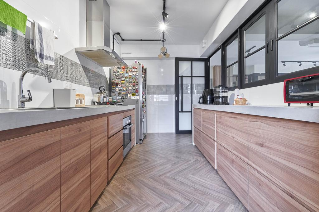 Contemporary, HDB, Kitchen, Canberra Crescent, Interior Designer, Space Atelier