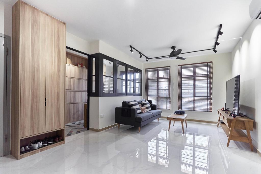 Contemporary, HDB, Living Room, Canberra Crescent, Interior Designer, Space Atelier