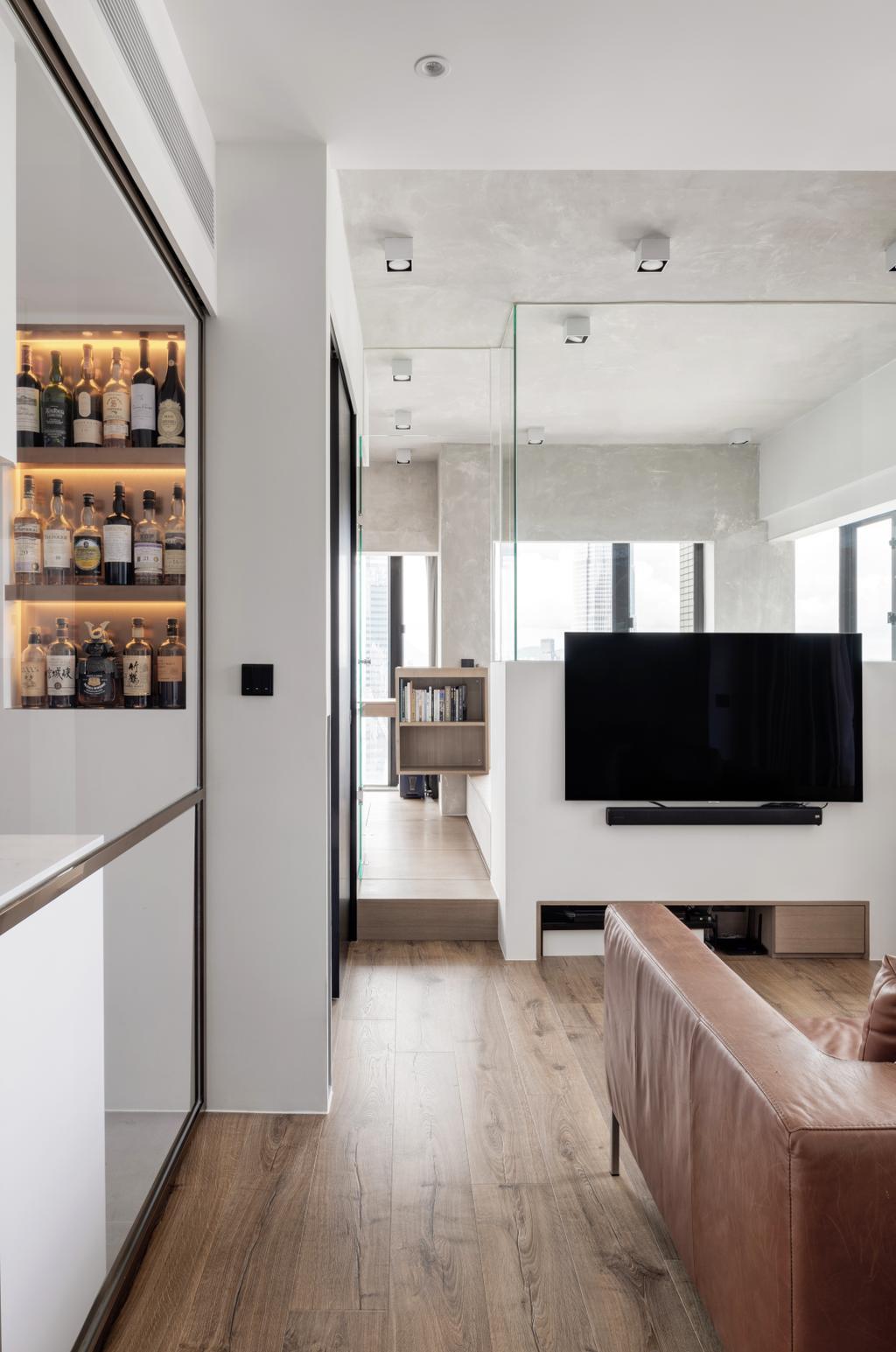 工業, 私家樓, 客廳, 蔚晴軒, 室內設計師, N'creative, 復古